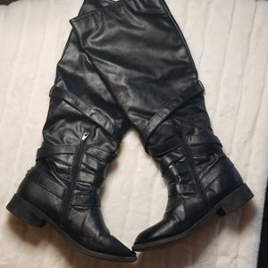Justfab Black tall boots -size 7